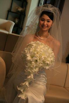 新郎新婦様からのメール 真珠の雫 帝国ホテル様へ : 一会 ウエディングの花 #テッポウユリ