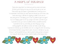 Heather's Heart: A Heart of Patience