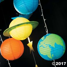 God's Galaxy VBS DIY Paper Lantern Planets Décor Idea