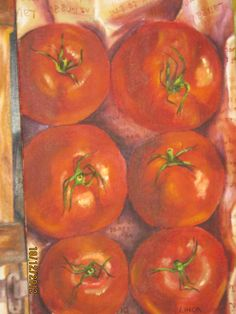 Tomatoes oil on canvas