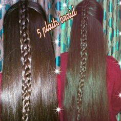 5 plaits braid :D 4 long hairs  :)