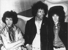 Jimi Hendrix along with Mitch and Noel
