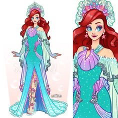 Let's start off this Disney Princess train with one of my favorites. 🧜🏻♀️ This is free to cosplay! It has also been online since… Ariel Disney, Disney Dream, Princesa Ariel Da Disney, Disney Word, Disney Fun, Disney Magic, Frozen Disney, Disney Family, Disney Style
