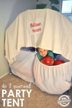 DIY Balloon Play House & Fort Magic Giveaway!
