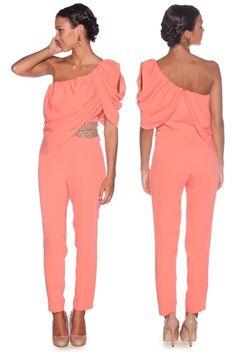 Mono de alquiler en lamasmona.com Jumpsuit Outfit, Dress Outfits, Dress Up, Cute Outfits, Fashion Outfits, Jumpsuit Elegante, Wedding Guest Style, Wedding Styles, 70s Outfits