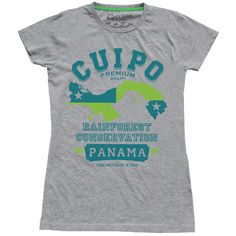 Collegiate 100% Organic Cotton Short Sleeve Crew.This tee sports the Panamanian Flag. Panama is home to the #Cuipo Rainforest Preserve. By purchasing this shirt, you are saving one square meter of #rainforest forever. $28