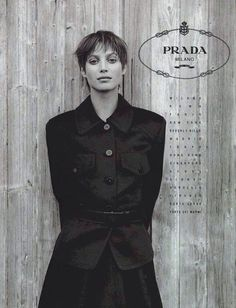 Christy Turlington | Photography by Peter Lindbergh | For Prada Campaign | Spring 1994