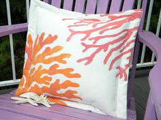 Two corals sherbet colors orange pink painted by crabbychris, $41.00