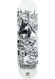 MOB-Skateboards x-Skatecrew-Friendship-3, Deck, white-black Titus Titus Skateshop #Deck #Skateboard #titus #titusskateshop