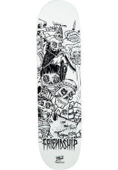 MOB-Skateboards x-Skatecrew-Friendship-3, Deck, white-black Titus Titus Skateshop #Deck #Skateboard #titus #titusskateshop