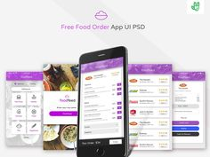 Food Delivery App UI PSD