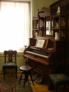 This pump organ dates from the mid - 1860's, in a mansion built in 1842.