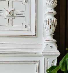 Painted Furniture For Sale, Painting Wooden Furniture, White Painted Furniture, Vintage Furniture, Furniture Ideas, White Paint Colors, White Paints, Eco Friendly Paint, Wooden Tags