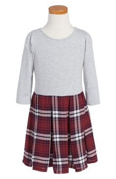 Tucker + Tate Pleated Knit Dress (Toddler Girls, Little Girls & Big Girls) available at #Nordstrom