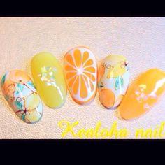 オレンジ&レモンnail♡ ② #YukariTsujimura #ネイルブック