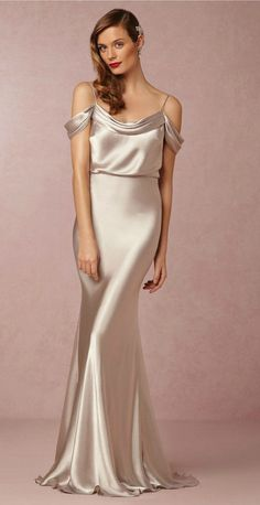 Liquid silk bridesmaid dress from BHLDN