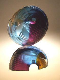 Glass sculpture.