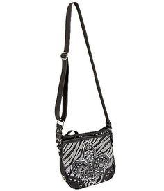 NEW MISS ME VEGAN LEATHER ZEBRA CROSSBODY BAG PURSE #MissMe #CROSSBODY