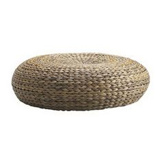 IKEA Leather and Rattan Footstools for Living Rooms