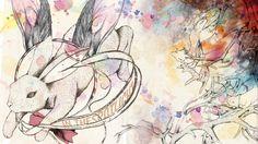 Lucy Wood Illustration :White Rabbit Says