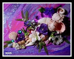 How to Create a Mixed-Media Shellscape Shell Flowers, Large Flowers, Seashell Art, Seashell Crafts, Art Craft Store, Small Canvas, Gifts For Family, Art Tutorials, Artificial Flowers