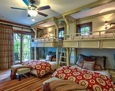 Bunk room- love this idea for a guest room area,  could be used by a couple or a family with kids.