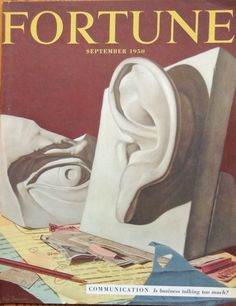 September1950 Fortune Magazine Original Cover  Art by Kenneth Davies  great cover