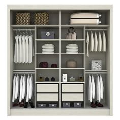 great way to organize your closet! Bedroom Built In Wardrobe, Bedroom Built Ins, Bedroom Closet Design, Wardrobe Cabinets, Master Bedroom Closet, Bedroom Wardrobe, Wardrobe Closet, Closet Designs, Bedroom Cupboard Designs