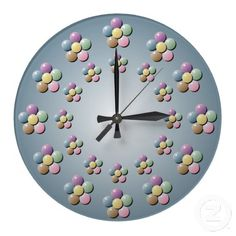 Customizable Flower clocks from Zazzle. Choose a pre-existing design for your wall clock or create your own today! Pastel Flowers, Beaded Flowers, Flower Wall, Create Yourself, Clock, Design, Home Decor, Watch, Decoration Home