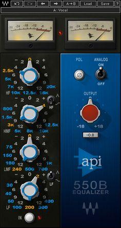 API 550B EQ Plugin-in from Waves #audiounits #rtas #vst #ilok2