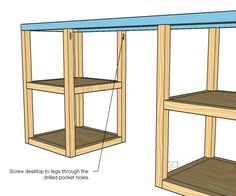 build a desk | Ana White | Build a Parson Tower Desk | Free and Easy DIY Project and ...