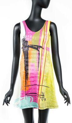 """VOLT Dress """"Kasi"""", Style Stunning piece of art white dress with pink, yellow, red and aqua artistic print. Volt Design, Different Styles, Designer Dresses, Athletic Tank Tops, Cool Style, Ready To Wear, Womens Fashion, Fashion Trends, Therapy"""