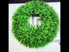 How to make Farmhouse style Boxwood wreath for your door or home - YouTube