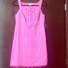 Lilly Pulitzer dress Gorgeous pink color. Excellent condition. Lots of compliments, simply doesn't fit. Lilly Pulitzer Dresses