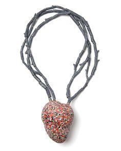 Carina Chitsaz-Shoshtary Necklace: Heart Tree, 2014 Graffiti, wood, silver, steel wire, paint Heart: 9,6x12,5x8,0; 44x23cm 8,0 cm