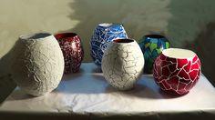Make Vases and Pots w/ Newspaper. Part 2 Diy Paper, Paper Crafts, Diy And Crafts, Arts And Crafts, Paper Bowls, Paperclay, Handicraft, Fiber Art, Decoupage