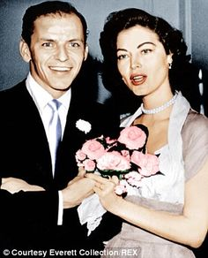 They married in 1951 (pictured) when Frank was 35 and Ava 28, and if their courtship had been a reality show, the marriage was like a bad war movie