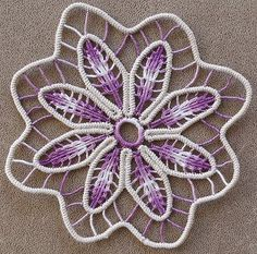 Romanian Point Lace Crochet. I think the link is broken but I want to learn this technique