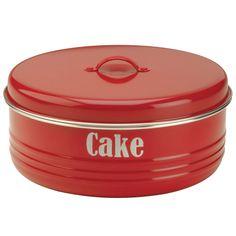 Typhoon Vintage Red Kitchen Cake Storage Tin