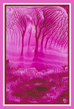 Bomen geschilderd met bijenwas door Beika Kruid Encaustic Art, Painting, Watercolor Art, Painting Art, Paintings, Painted Canvas, Drawings