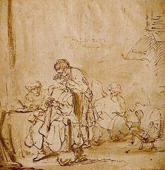 Rembrandt - Tobie soignant les yeux de son père