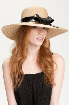 kate spade new york 'patent bow' hat available at Nordstrom