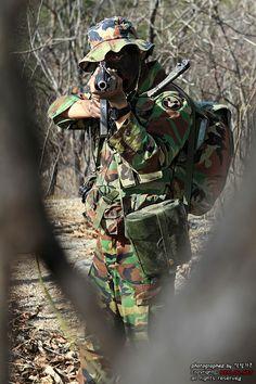 지형정찰 중인 정찰·특공병