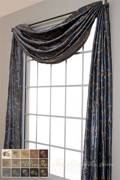 valances jabots swags scarf window top treatments on