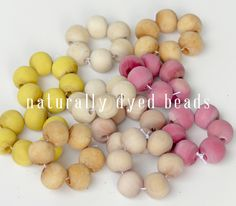 pretty wooden bead napkin rings!