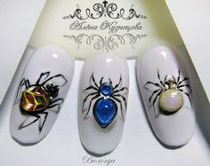 50 Ideas Nails Art Halloween Spider For 2019 3d Nail Art, Animal Nail Art, Acrylic Nail Art, Cool Nail Art, Art 3d, Halloween Nail Designs, Halloween Nail Art, Fall Nail Designs, Halloween Spider