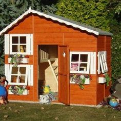 Shire Loft Wooden Playhouse now on offer