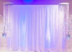 soft backdrop with crystal pillars