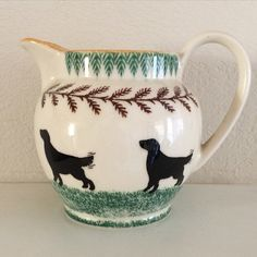 An old favorite Staffordshire piece. jug with spaniels.