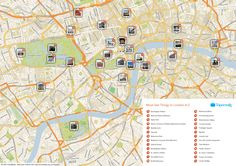 Free Printable Map of London attractions from Tripomatic.com. Get the high-res version at http://www.tripomatic.com/United-Kingdom/London/#tourist-map